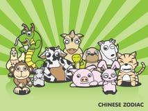 Chinesische Tiere des Tierkreises zwölf Stockbilder