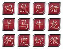 Chinesische Tierkreiszeichen Lizenzfreies Stockbild