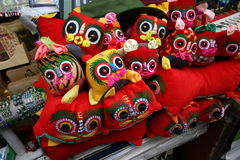 Chinesische Tiger-Kopf-Schuhe Lizenzfreie Stockfotos