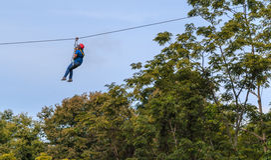 Chinesische Touristen haben Spaß im Erlebnispark am chaing mearim Lizenzfreie Stockfotografie