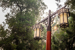 Chinesische Trachtenmodegartenlampe Stockfotografie