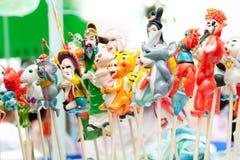 Chinesische traditionelle Fertigkeit, Teig-Figürchen lizenzfreie stockfotos