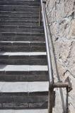Chinesische Treppendetails der Chinesischen Mauer an Juyongguan-Durchlauf lizenzfreie stockbilder