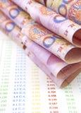 Chinesische Währung auf Konten Lizenzfreies Stockbild