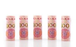 Chinesische Währung in der Rolle lizenzfreie stockbilder
