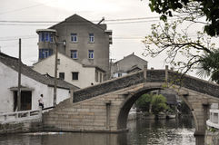 Chinesische wässrige Stadt stockbild