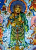 Chinesische Wandmalerei Stockbild