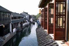 Chinesische Wasser-Stadt Zhouzhuang Stockfotografie