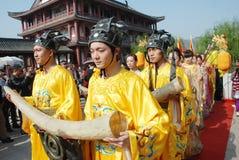 Chinesische Zeremonie des allgemeinen Denkmals des Qingming Festivals Lizenzfreies Stockbild