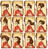 Chinesische zodiacal Karten Lizenzfreie Stockfotografie