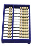 Chinesischer Abakus lokalisiert auf weißem Hintergrund Lizenzfreie Stockbilder