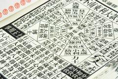 Chinesischer Almanach Stockfotografie