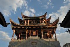 Chinesischer alter Gatter-Kontrollturm Stockfotos