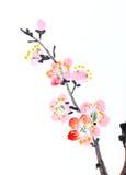 Chinesischer Anstrich der Blumen, Pflaumeblüte Stockbild