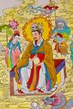 Chinesischer Anstrich der Tradition auf chinesischer Tempelwand Lizenzfreie Stockbilder