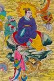 Chinesischer Anstrich der Tradition auf chinesischer Tempelwand Lizenzfreies Stockbild