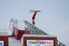 Chinesischer Athlet im Flug Stockbilder