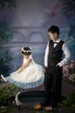Chinesischer Bruder und Schwester Stockfotos