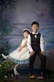 Chinesischer Bruder und Schwester Stockfoto