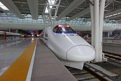 Chinesischer CRH Schnellzug stockfotografie