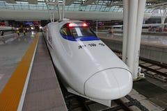 Chinesischer CRH Schnellzug Stockbilder