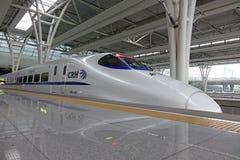 Chinesischer CRH Schnellzug lizenzfreies stockbild