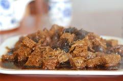 Chinesischer cuisine_Bean Klumpen mit Stockfotos