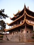Chinesischer Dachboden durch die Kiefer (vetical) Lizenzfreie Stockfotos