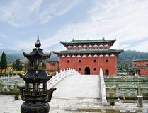 Chinesischer dongling Tempel lizenzfreie stockfotografie