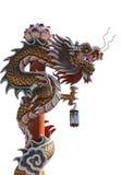 Chinesischer Drache bei Wat Phananchoeng lizenzfreie stockfotos