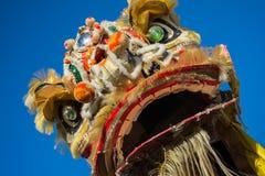 Chinesischer Drache während goldenen Dragon Paredes. Stockbilder