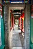 Chinesischer Garten - langer Flur Stockfotografie