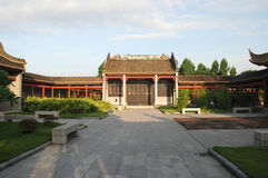 Chinesischer Gartenpatio Stockfotografie