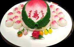 Chinesischer Geburtstags-Kuchen Stockbild