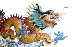Chinesischer gelber Drache Stockfotos