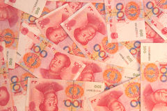 Chinesischer Geldhintergrund Stockfoto