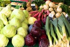 Chinesischer Gemüsemarkt Stockfotografie
