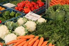 Chinesischer Gemüsemarkt Stockbild