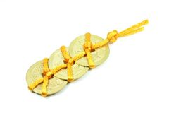 Chinesischer glücklicher Münzen-Charme Stockfotos