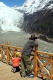 Chinesischer Gletscher Stockfoto