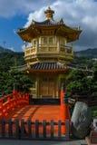 Chinesischer goldener Tempel in Hong Kong Lizenzfreie Stockfotos