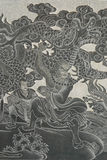 Chinesischer Gott. Lizenzfreies Stockbild