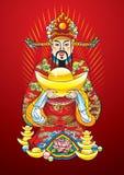 Chinesischer Gott des neuen Jahres des Reichtums Stockfotos