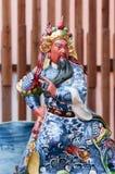 Chinesischer Gott gebildet vom Porzellan Stockfotografie