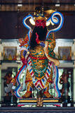 Chinesischer Gott gebildet vom Porzellan Stockfoto