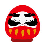 Chinesischer Gott Vektorsymbols der traditionellen Karikatur des Reichtumswohlstandes des flachen Lizenzfreie Stockfotos