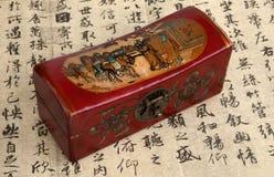 Chinesischer hölzerner Kasten Stockbilder