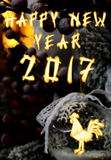 Chinesischer Hahn 2017 neues Year& x27; s-Designhintergrund vektor abbildung