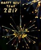 Chinesischer Hahn 2017 neues Year& x27; s-Designhintergrund lizenzfreie abbildung