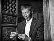 Chinesischer Handwerker Stockbild